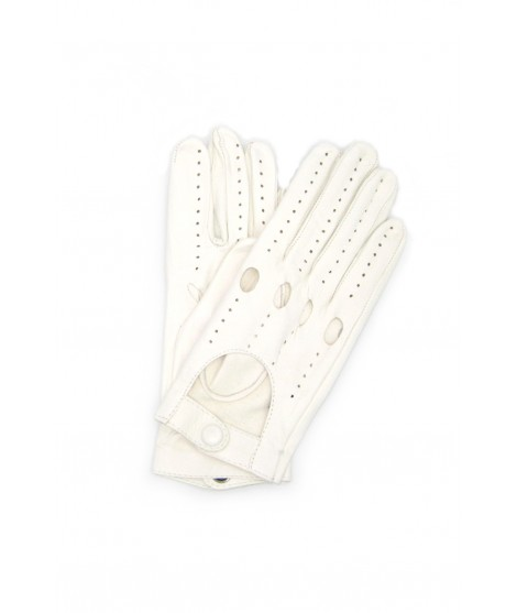 Driving gloves in Nappa Leather White Sermoneta Gloves Leather