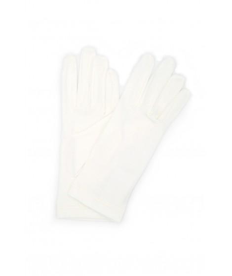 Cotton gloves Cream Sermoneta Gloves Leather