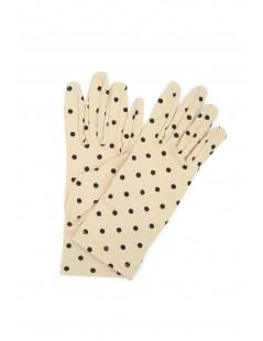 Guanto in Cotone stampa pois Beige/Pois nero Sermoneta Gloves