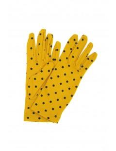 Guanto in Cotone stampa pois Ocra/Pois nero Sermoneta Gloves