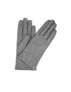 Nappa leather gloves Cashmere lined MD Grey Sermoneta Gloves