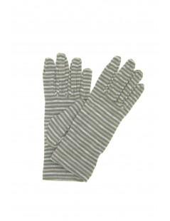 Viscose gloves, print small Lines Beige/Taupe Sermoneta Gloves