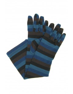 Viscose gloves 8bt print Lines Multicolor Sermoneta Gloves