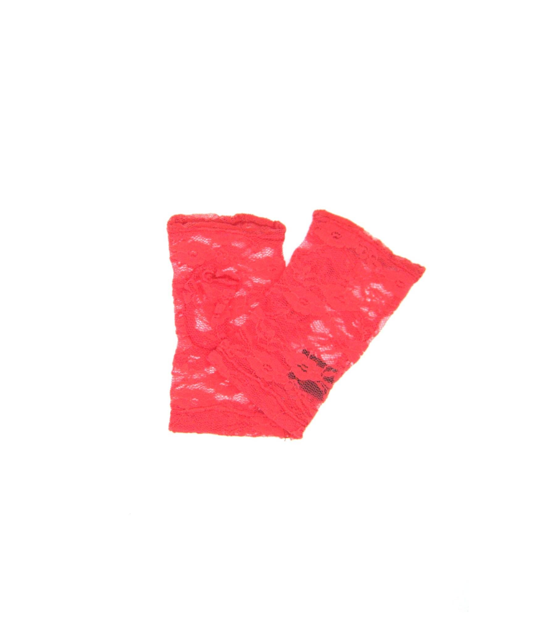 Guanto manicotto in Pizzo ricamo fiore Corallo Sermoneta Gloves