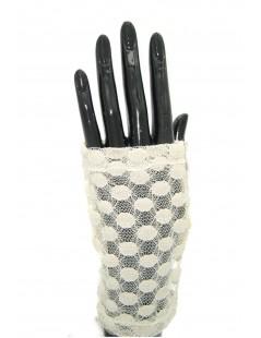 Guanto manicotto in Pizzo ricamo pois Beige Sermoneta Gloves