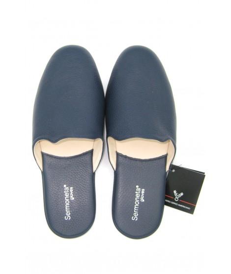 Pantofole da Uomo in Cervo Blu/Navy Sermoneta Gloves Guanti in