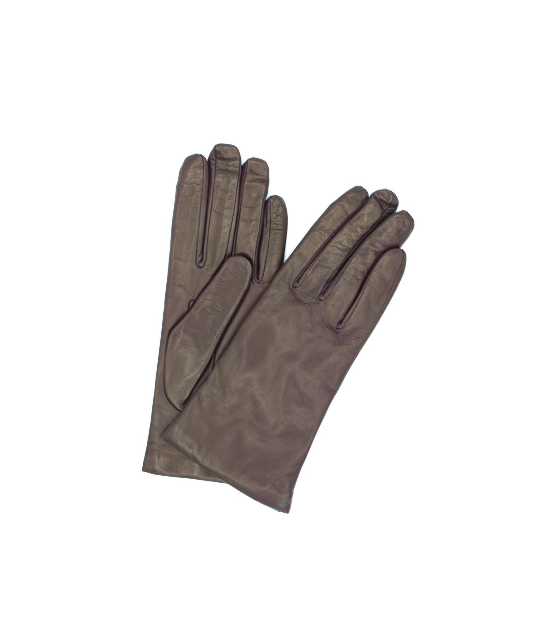 Nappa leather gloves Cashmere lined Bordeaux Sermoneta Gloves