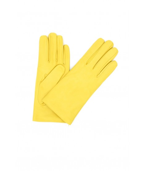 Nappa leather gloves Cashmere lined Yellow Sermoneta Gloves
