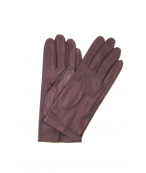 Nappa leather gloves unlined Magenta Sermoneta Gloves Leather
