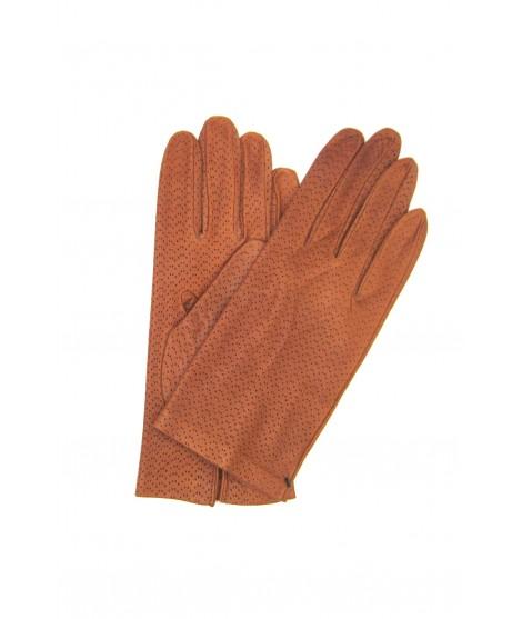 Nappa leather gloves unlined Tan Sermoneta Gloves Leather