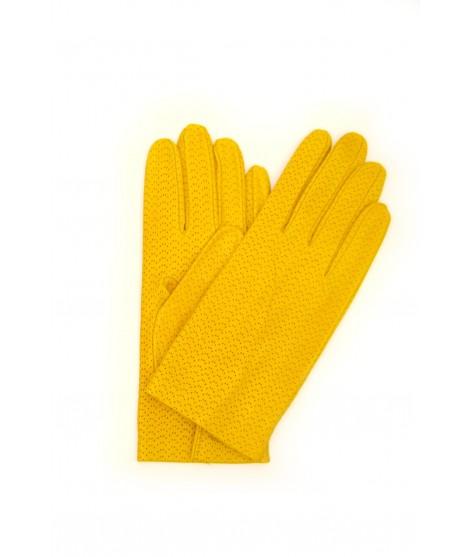 Guanto Nappa sfoderato Giallo Sermoneta Gloves Guanti in Pelle