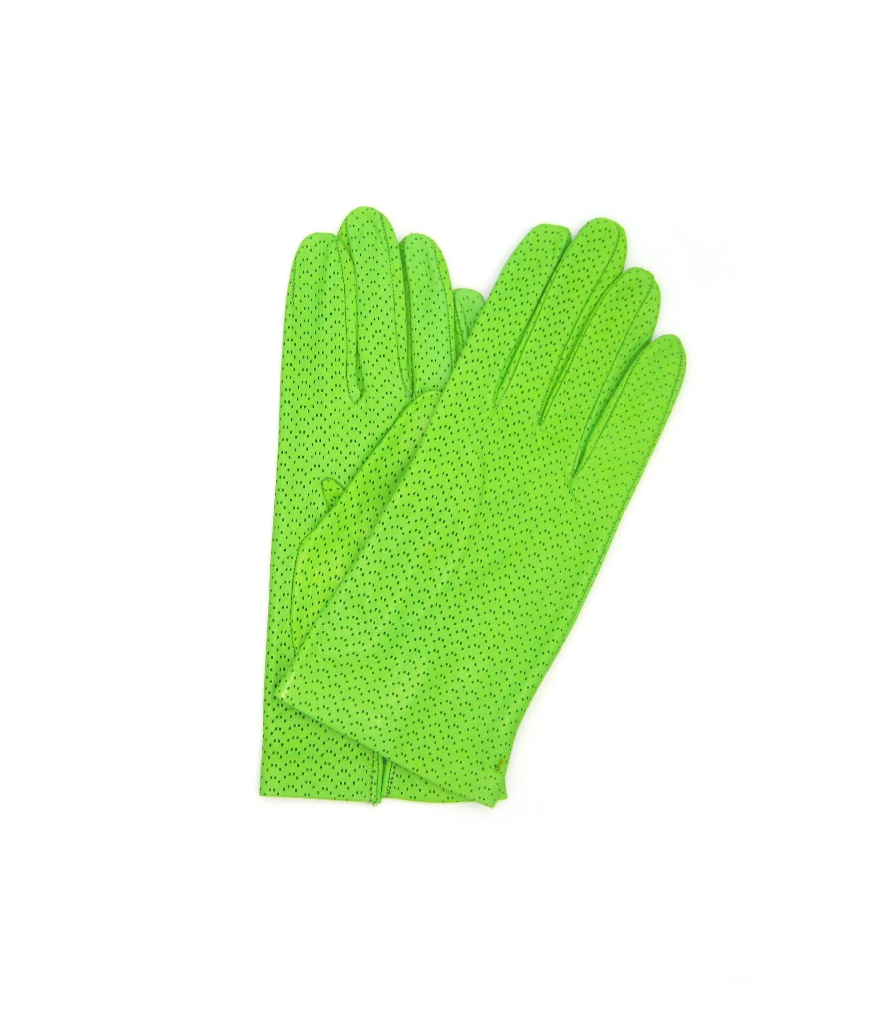 Nappa glove unlined Light Green Sermoneta Gloves Leather