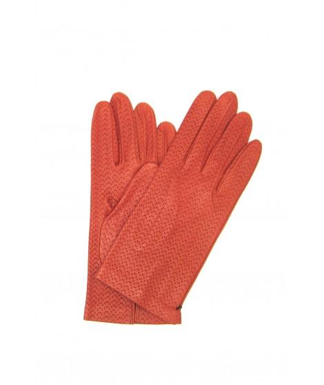 Nappa glove unlined col.dark orange Sermoneta Gloves Leather