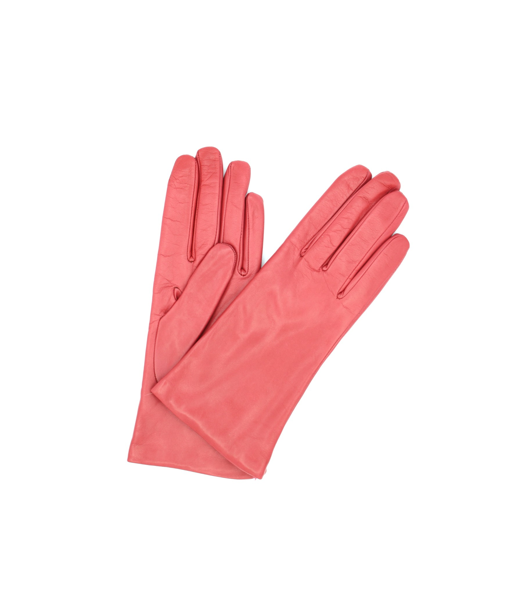 Nappa leather gloves Cashmere lined Coral Pink Sermoneta Gloves