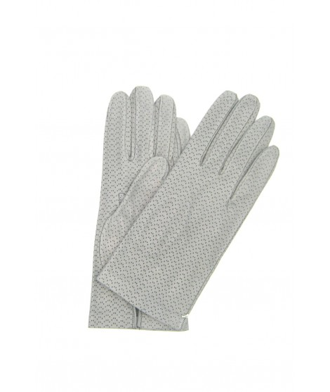 Nappa glove unlined pearl grey Sermoneta Gloves Leather
