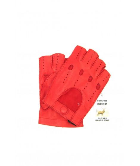 Guanto Guida di Cervo 1/2 dita Rosso Sermoneta Gloves Guanti in