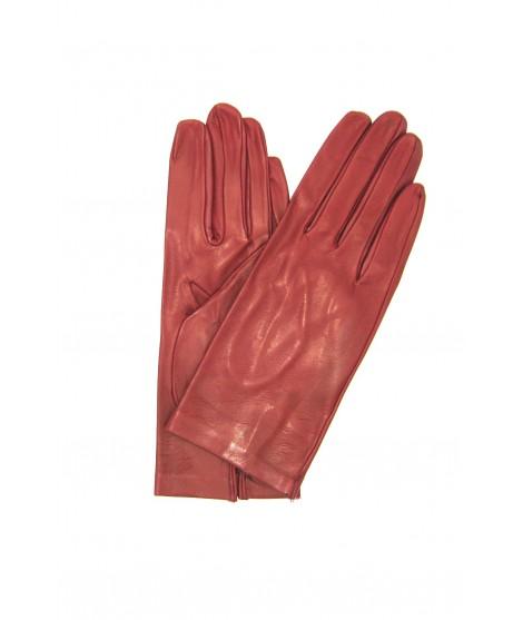 Nappa leather gloves 2bt unlined Dark Red Sermoneta Gloves