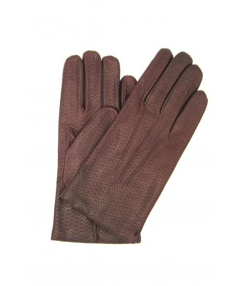 Nappa leather gloves 2bt,cashmere lined Bordeaux Sermoneta