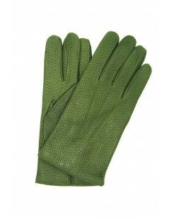 Nappa leather gloves 2bt ,cashmere lined Olive Green Sermoneta
