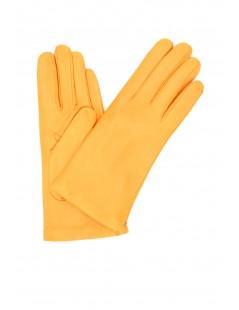 Nappa leather gloves Cashmere lined Light Orange Sermoneta
