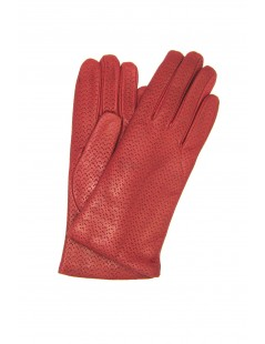 Nappa leather gloves 2bt, cashmere lined Dark Red Sermoneta