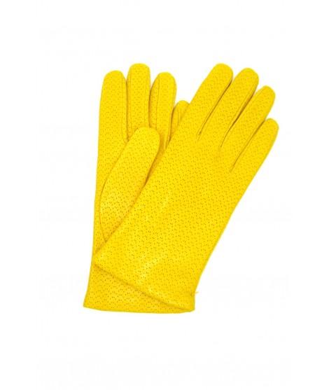 Nappa leather gloves 2bt, cashmere lined Yellow Sermoneta