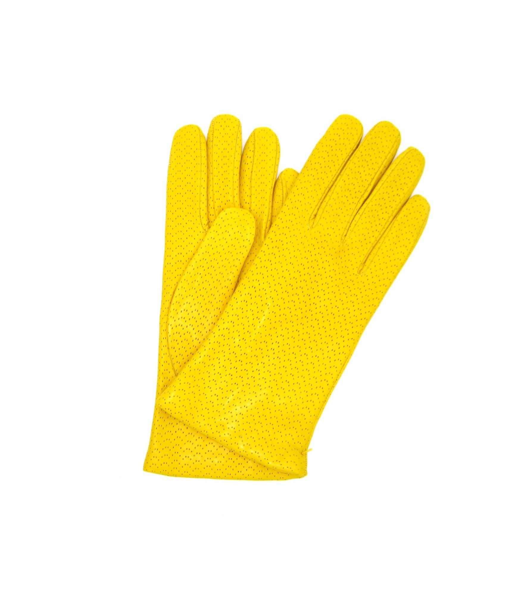 Guanto Nappa 2bt foderato cashmere Giallo Sermoneta Gloves