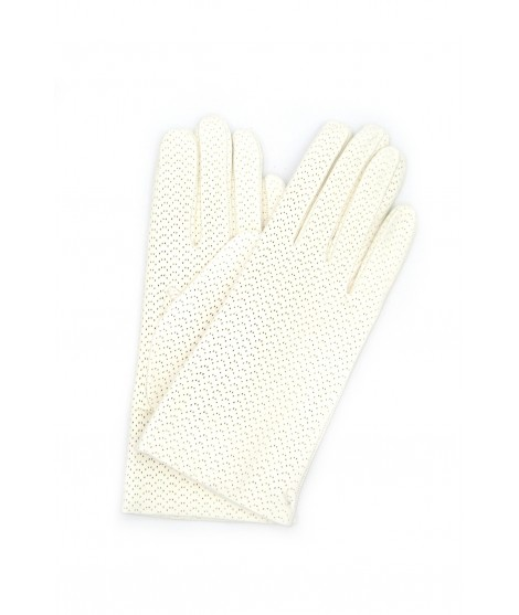 Nappa leather gloves 2bt, cashmere lined White Sermoneta Gloves