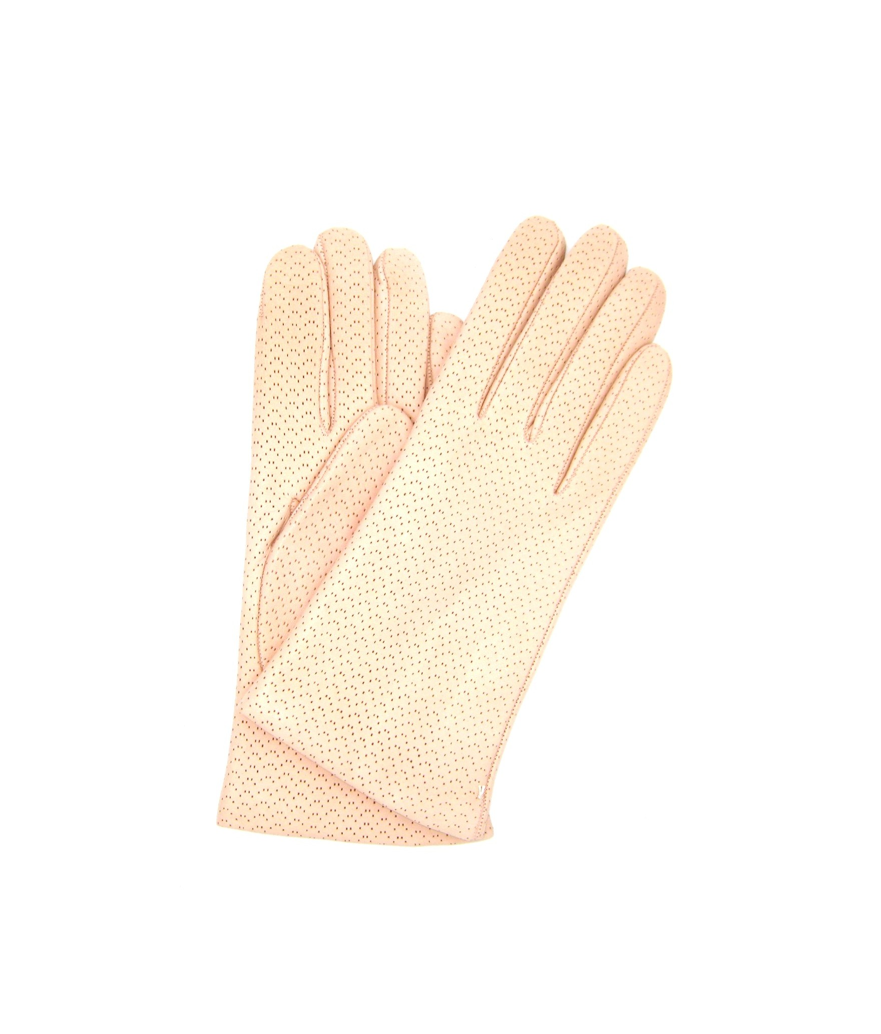 Nappa leather gloves 2bt, cashmere lined Light Pink Sermoneta