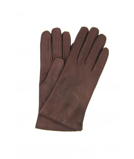 Nappa leather gloves 2bt, cashmere lined Bordeaux Sermoneta