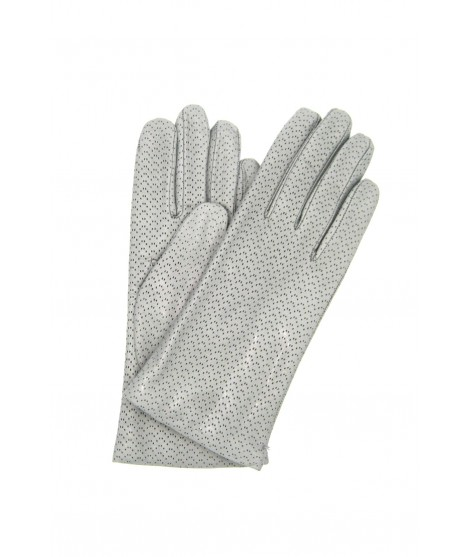 Nappa leather gloves 2bt, cashmere lined Pearl Grey Sermoneta