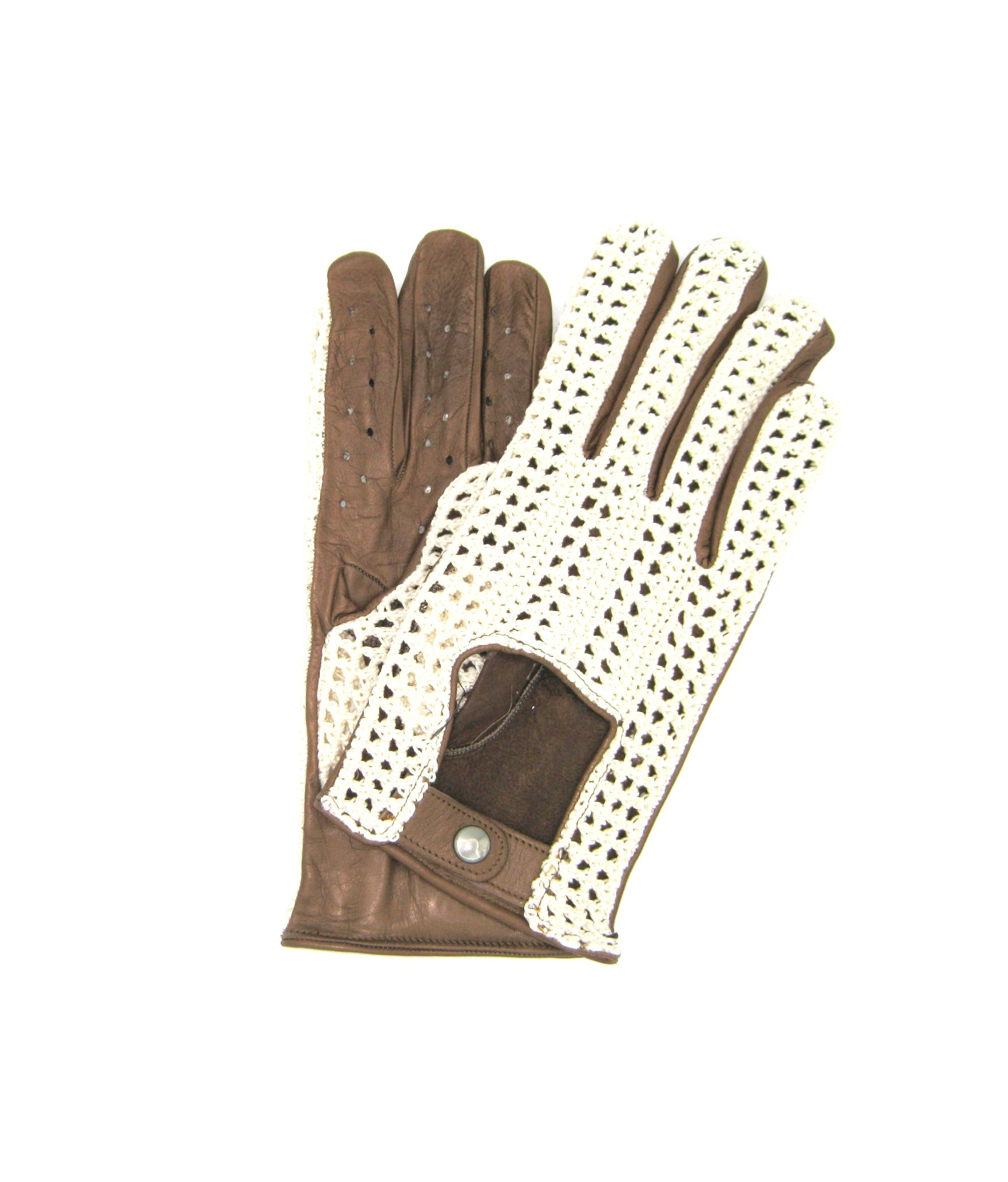 Driving gloves in Nappa leather and Rope Mud Sermoneta Gloves