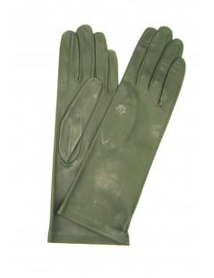 Guanto Nappa foderato seta Verde oliva Sermoneta Gloves Guanti