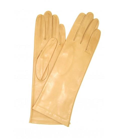 Nappa leather gloves 4bt lined Silk Nude Sermoneta Gloves