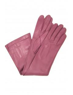 Nappa leather gloves 10bt silk lined Magenta Sermoneta Gloves