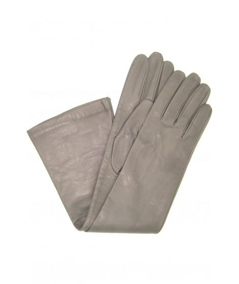 Nappa leather gloves 10bt silk lined MD Grey Sermoneta Gloves