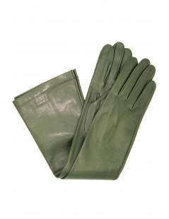 Nappa leather gloves 10bt silk lined Olive Green Sermoneta