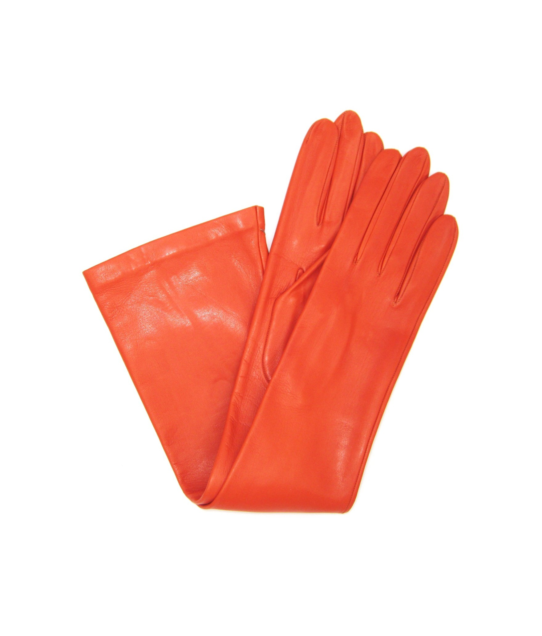 Nappa leather gloves 10bt silk lined Orange Sermoneta Gloves
