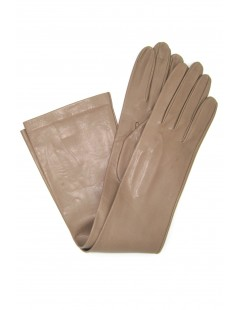 Nappa leather gloves 10bt silk lined Toupe Sermoneta Gloves