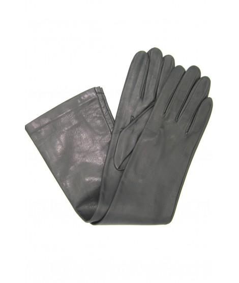 Nappa leather gloves 10bt silk lined Dark Grey Sermoneta Gloves