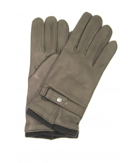 Nappa leather gloves cashmere lined with strap Mud Sermoneta