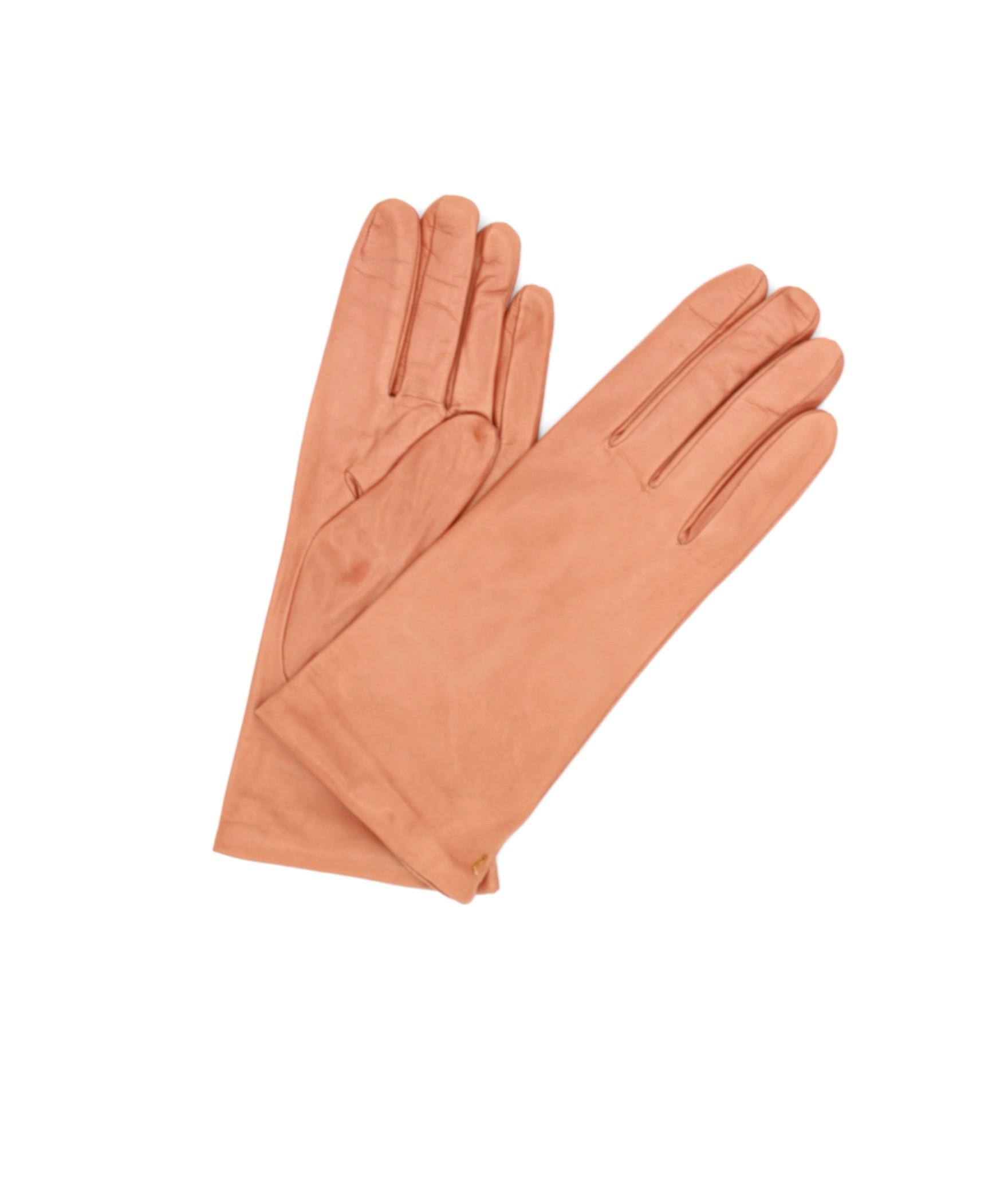 Nappa leather gloves Cashmere lined Salmon Pink Sermoneta
