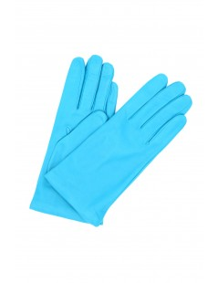 Nappa leather gloves Cashmere lined Turquoise Sermoneta Gloves