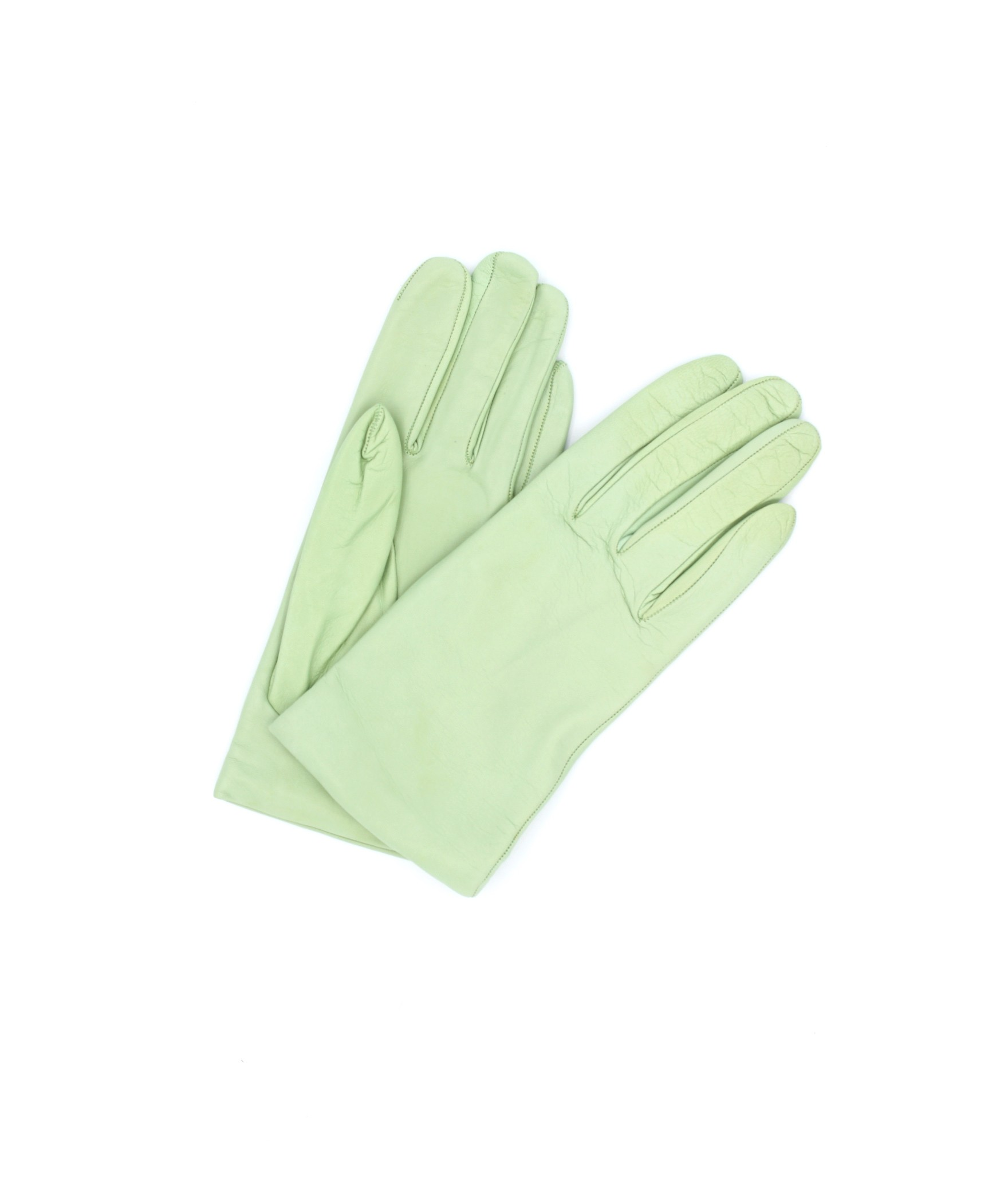 Nappa leather gloves Cashmere lined Water Green Sermoneta