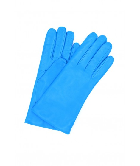 Nappa leather gloves Cashmere lined Blue Sermoneta Gloves