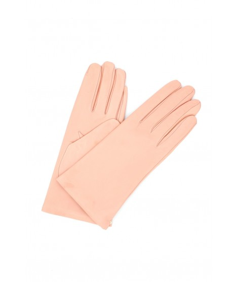 Nappa leather gloves Cashmere lined Baby Pink Sermoneta Gloves