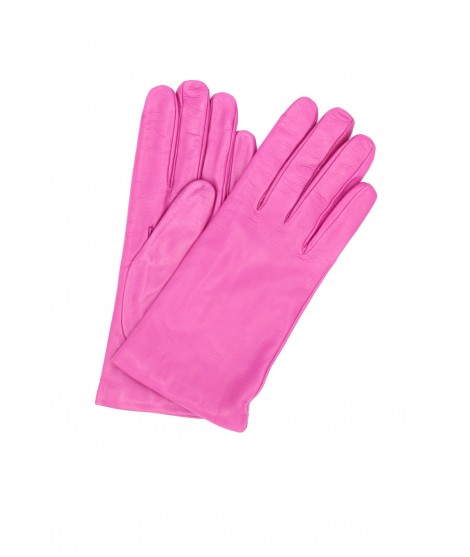 Nappa leather gloves Cashmere lined Pink Orchid Sermoneta