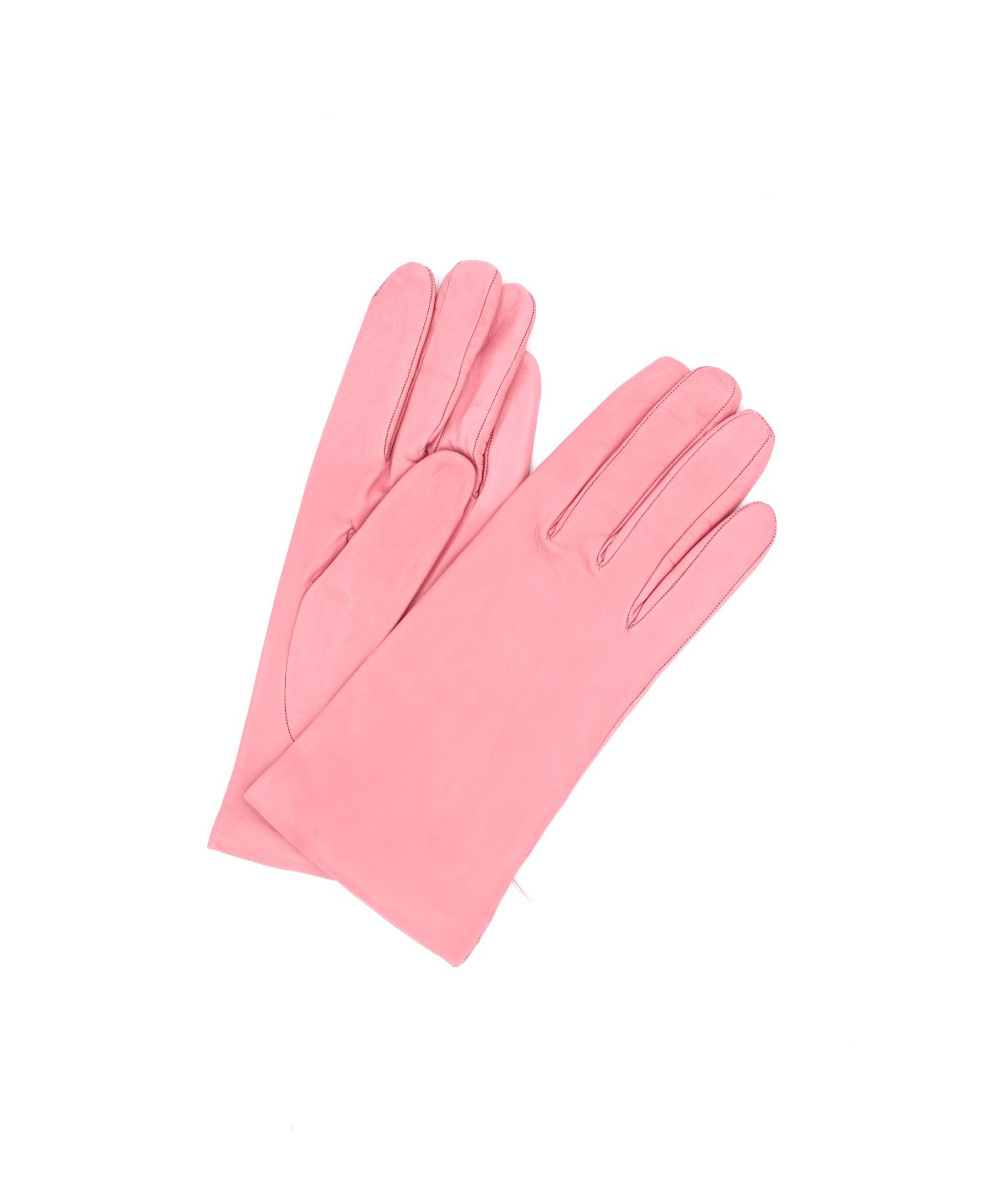 Nappa leather gloves Cashmere lined Bubble gum Sermoneta Gloves