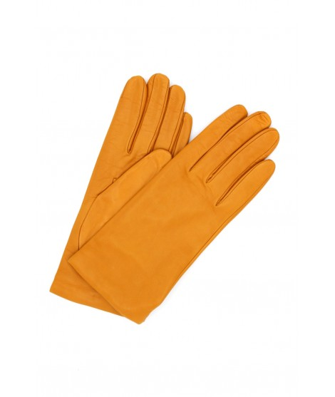 Nappa leather gloves Cashmere lined Old gold Sermoneta Gloves