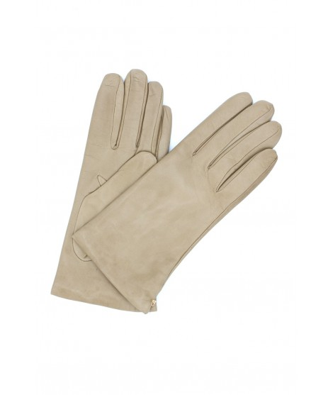 Nappa leather gloves Cashmere lined Beige/Taupe Sermoneta